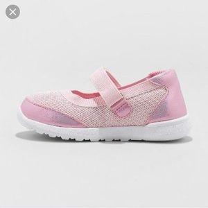 NWOT Cat & Jack Eva Pink Glitter Mary Jane Sneaker